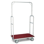 Forbes Standard Luggage Cart Silver Powder-Epoxy Finish Steel Superstructure 5