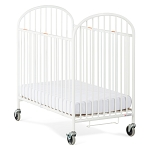Foundations Compact Pinnacle™ RTA Steel Folding Crib w/ Oversized Commercial Casters & 4