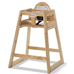 Foundations NeatSeat™ Food Service Wood High Chair Natural