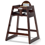 Foundations NeatSeat™ Food Service Wood High Chair Antique Cherry