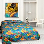 Tropical Kiwi Printed Bedspread