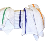 Ganesh Blue Center Stripe Bar Mops 17x20 100% Cotton 32Oz/Dz 100 Dz Per Case Price Per Dz