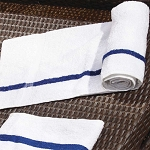 Ganesh Classic Blue Center Stripe Pool Towels 22x44 100% Cotton 5.75Lb/Dz 10 Dz Per Case Price Per Dz