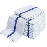Ganesh Blue Center Stripe Terry Hand Towel 16x27 100% Cotton 2.75Lb/Dz 50 Dz Per Case Price Per Dz
