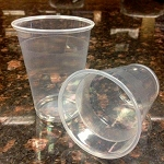 Ganesh 9 Oz. Wrapped Plastic Cups 1000 Per Case Price Per Case