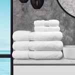 Ganesh Oxford Reserve Bath Sheets/Pool Towels 30x60 100% 2 Ply Super Combed Cotton w/ Dobby Border & Dobby Hemmed White 20Lb/Dz 2 Dz Per Case Price Per Dz