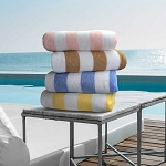 Ganesh Oxford Resistenzia 2x2 Stripe Pool Towels 30x60 80% Ringspun Cotton 20% Polyester Vat Dyed 11.5Lb/Dz 2 Dz Per Case Price Per Dz