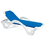 Catalina Adjustable Sling Chaise with Arms