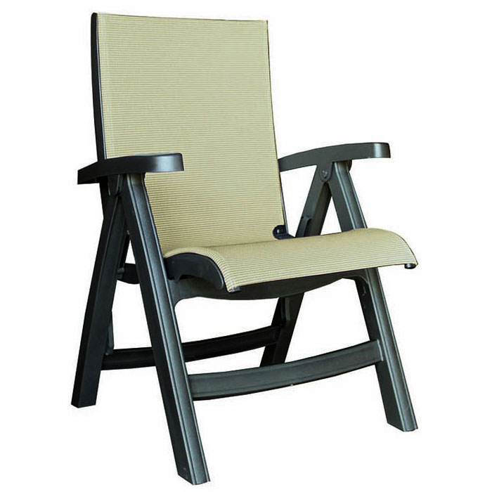 Remarkable Grosfillex Belize Midback Folding Sling Armchair Charcoal Frame Tweed Sling 2 Per Case Price Per Each Gmtry Best Dining Table And Chair Ideas Images Gmtryco