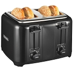 Proctor-Silex Commercial 24215 4 Slice Wide Slot Durable Toaster Black 2 Per Case Price Per Each