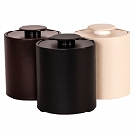 Hapco Executive Series 3 Qt. Round Vinyl Padded Ice Bucket w/ Matching Vinyl Lid & Flat Knob 12 Per Case Price Per Each