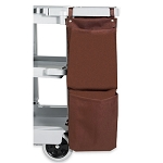Hospitality 1 Source 2 Pocket X DUTY™ Housekeeping Caddy Bags 12x35 Brown 5 Per Case Price Per Each