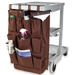 Hospitality 1 Source 12 Pocket X DUTY™ Housekeeping Caddy Bags 21x32 Brown 5 Per Case Price Per Each