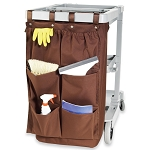 Hospitality 1 Source 6 Pocket X DUTY™ Housekeeping Caddy Bags 19x32 Brown 5 Per Case Price Per Each