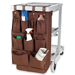 Hospitality 1 Source 9 Pocket X DUTY™ Housekeeping Caddy Bags 19x32 Brown 5 Per Case Price Per Each