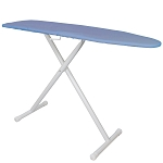 Hospitality 1 Source Premium Ironing Board w/ Blue Cover 53Lx13.5W Powder Coat White Legs Finish 4 Per Case Price Per Each