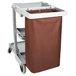 Hospitality 1 Source X DUTY™ Housekeeping Cart Bags Medium 17x33x11 Brown 5 Per Case Price Per Each