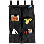 Hospitality 1 Source 6 Pocket X DUTY™ Housekeeping Caddy Bags 19x32 Black 5 Per Case Price Per Each