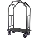 "Hospitality 1 Source Coastal Series Bellman's Cart w/ 8"" Fully Pneumatic Wheels Rust Resistant Finish"