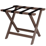 Hospitality 1 Source Composite Luggage Rack w/ Black Straps Chesnut Finish 2 Per Case Price Per Each