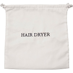 Hospitality 1 Source Hair Dryer Bag w/ White/Navy Embroidery 10 Per Case Price Per Each