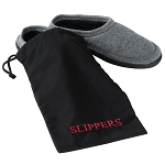 Hospitality 1 Source Slipper Bag w/ Black/Red Embroidery 10 Per Case Price Per Each