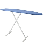 Hospitality 1 Source Basic Ironing Board w/ Blue Cover 53Lx13W Powder Coat White Legs Finish 4 Per Case Price Per Each