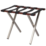 Hospitality 1 Source Uptown Luggage Rack w/ Black Straps Walnut Finish 4 Per Case Price Per Each