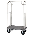 Hospitality 1 Source Transporter Series Bellman's Cart w/ 6