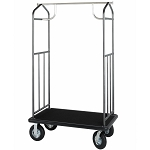 Hospitality 1 Source Transporter Series Bellman's Cart w/ 8