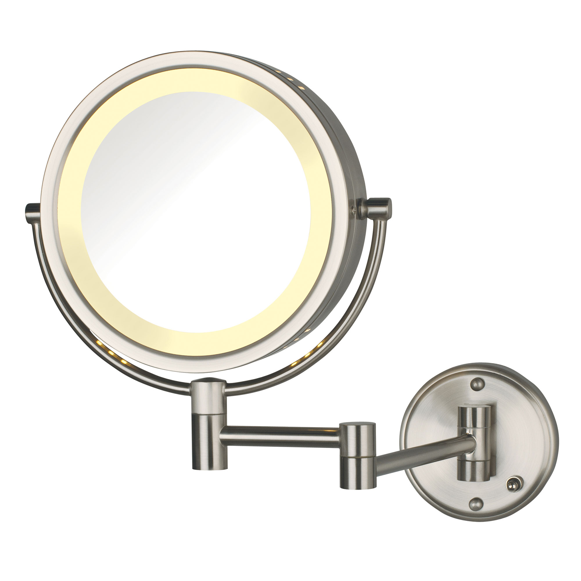 Jerdon Hl75nd 8 5 Quot Lighted Wall Mount Mirror 1x 8x
