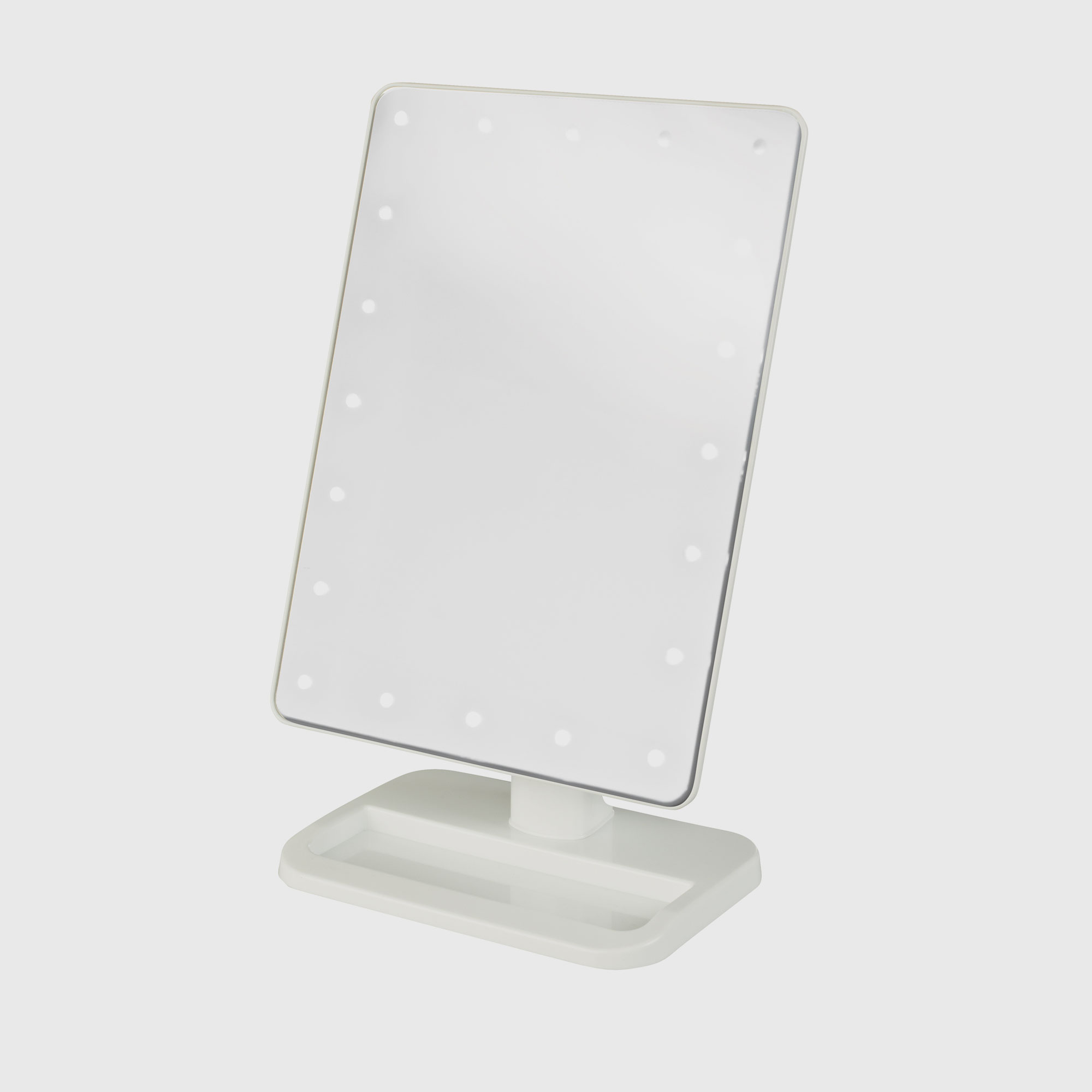 Jerdon Js811w Led Lighted Tabletop Makeup Mirror 1x 10x