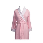 Telegraph Hill Seersucker Double Layer Bathrobe 100% Microfiber Pink 6 Per Case Per Each