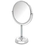 Jerdon JP918CB Non-Lighted Tabletop Mirror 1X-10X Magnification Chrome 4 Per Case Price Per Each