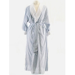 Telegraph Hill Seersucker Double Layer Bathrobe 100% Microfiber Navy 6 Per Case Per Each