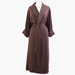 Telegraph Hill Knit Double Layer Check Waffle Bathrobe 100% Microfiber Chocolate 6 Per Case Price Per Each