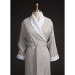 Telegraph Hill Seersucker Double Layer Bathrobe 100% Microfiber Taupe 6 Per Case Per Each