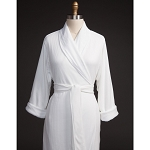 Telegraph Hill Knit Double Layer Check Waffle Bathrobe 100% Microfiber White 6 Per Case Price Per Each
