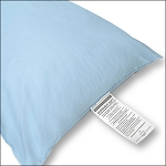 JS Fiber Microvent Soft Healthcare Pillow Standard 16Oz. Fill White or Blue 12 Per Case Price Per Each
