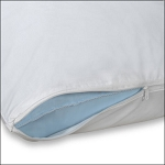 JS Fiber Zippered Pillow Protector King 50% Polyester 50% Cotton 12 Per Case Price Per Each