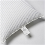 JS Fiber White Tuxedo Stripe Hospitality Pillow Standard 24Oz. Fill 12 Per Case Price Per Each