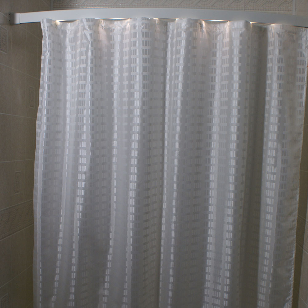 Wet Room Shower Curtains >> Kartri Dynasty Polyester Shower Curtain w/ Sewn Eyelets ...