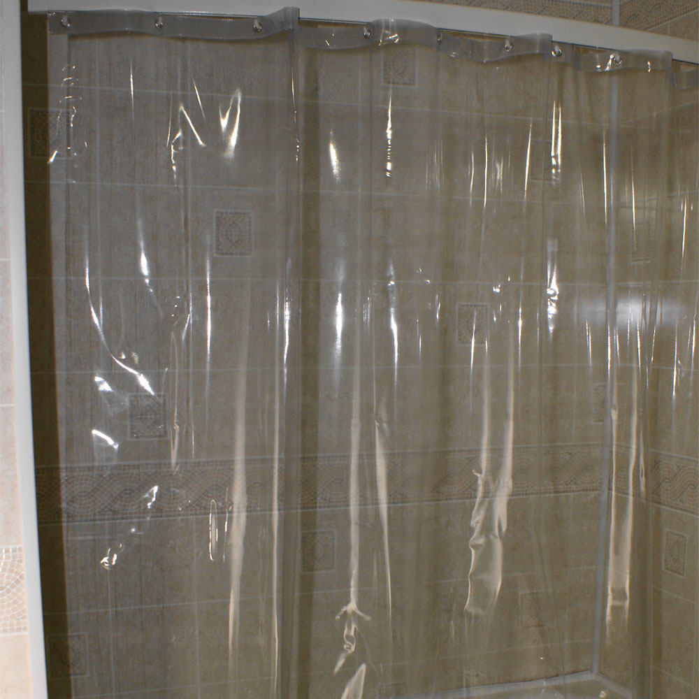 Kartri 7 Gauge See Thru Vinyl Shower Curtain W Metal Grommets 36x72 Clear 24 Per Case Price Each