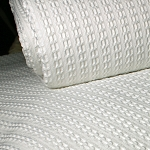 Kartri Urban Waffle Decorative Top Sheet w/ Square Corners Double 85x90 100% Polyester White 6 Per Case Price Per Each