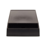 Lancaster Colony Brew Station Basic Tray w/ Front Condiment Holder Black 6 Per Case Price Per Each