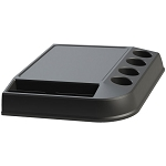 Lancaster Colony Brew Station K-Cup Tray w/ Front Condiment Holder Black 6 Per Case Price Per Each