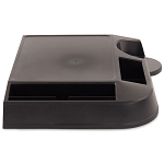 Lancaster Colony Brew Station Coffee Tray w/ Front & Side Condiment Holders Black 6 Per Case Price Per Each