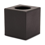 Hudson Plush Leatherette Tissue Box Cover