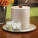 Lancaster Colony Glamour 3 Qt. Leatherette Ice Bucket w/ Laminated Lid 12 Per Case Price Per Each