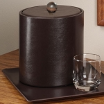 Lancaster Colony Glamour Deluxe 3 Qt. Leatherette Ice Bucket 12 Per Case Price Per Each